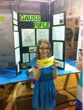 gauss rifle science project The gauss rifle uses magnetic induction to propel a projectile at incredible, and  devastating speed each shot can be charged for maximum.